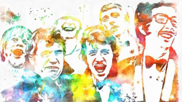 Bbc Painting - Monty Python Watercolor Tribute by Dan Sproul