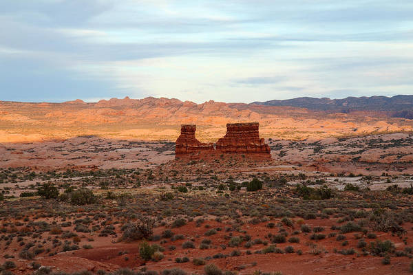 Photograph - Monument At Sunset In Arches National Park by Pierre Leclerc Photography