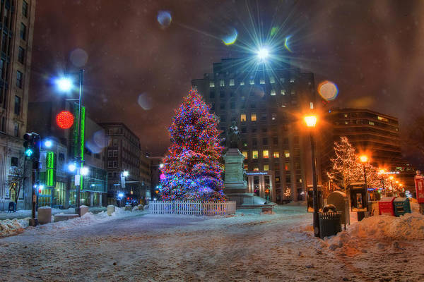 Photograph - Monument Square - Portland Maine by Joann Vitali