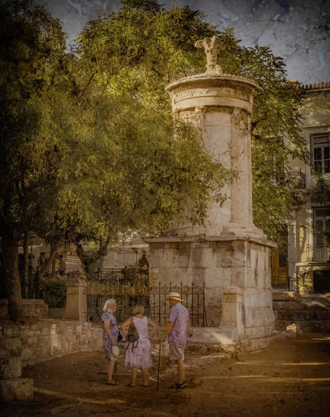 Photograph - Athens, Greece - Monument To Lysicrates Oldplate by Mark Forte