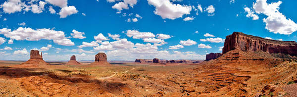 Blau Photograph - Monument Valley - The Large One by Andreas Freund