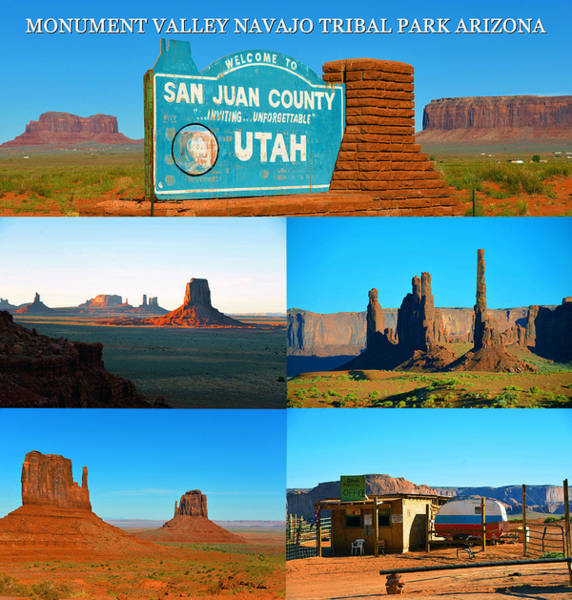 The Mitten Photograph - Monument Valley Arizona Work A by David Lee Thompson