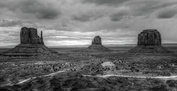 Photograph - Monument Valley Bw by Jennifer Ancker