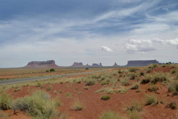The Mitten Photograph - Monument Valley Horizon by Gordon Beck