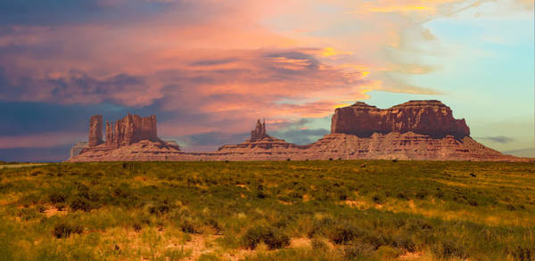 Photograph - Monument Valley Landscape Vista by Gaylon Yancy