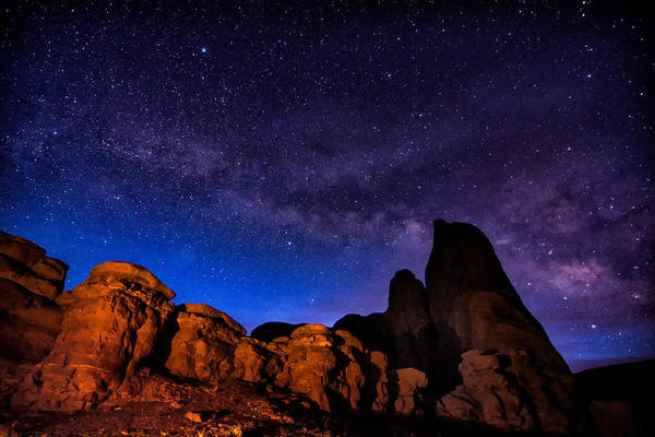 Photograph - Monument Valley Milky Way by Michael Ash