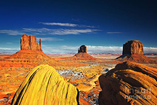 Photograph - Monument Valley Mittens Utah Usa by Sam Antonio