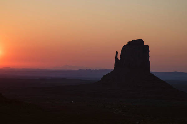 Wall Art - Photograph - Monument Valley Orange Sunrise Right Mitten by Dave Dilli