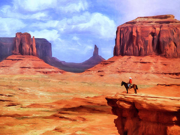 Painting - Monument Valley Overlook by Dominic Piperata