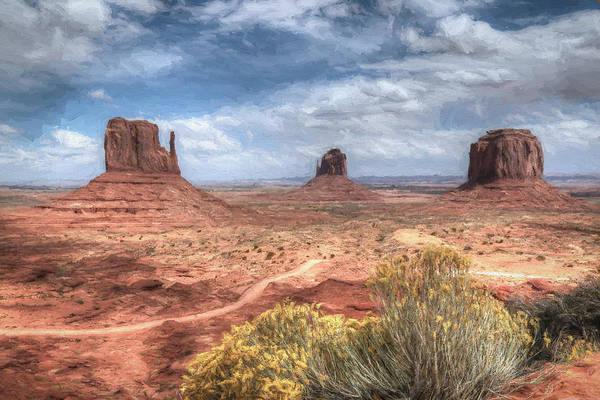 Navajo Indian Reservation Photograph - Monument Valley - Painterly by Donna Kennedy