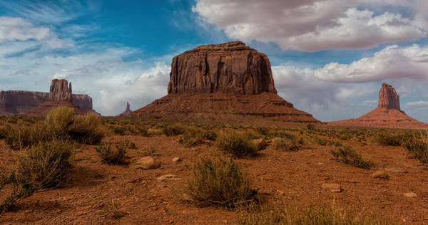 The Mitten Photograph - Monument Valley Panorama by Jonathan Davison