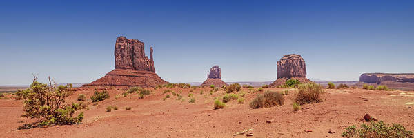 Geologic Formation Photograph - Monument Valley Panoramic Landscape by Melanie Viola