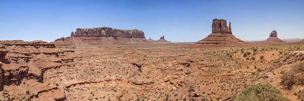 Monument Valley Panoramic Valley View Art Print by Melanie Viola
