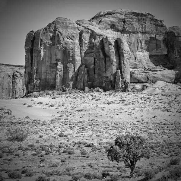 Geologic Formation Photograph - Monument Valley Rock Formations Black And White by Melanie Viola