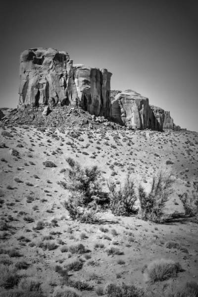 Geologic Formation Photograph - Monument Valley Rock Formations II Black And White by Melanie Viola