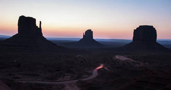 Photograph - Monument Valley Sunrise Panorama by Dave Dilli