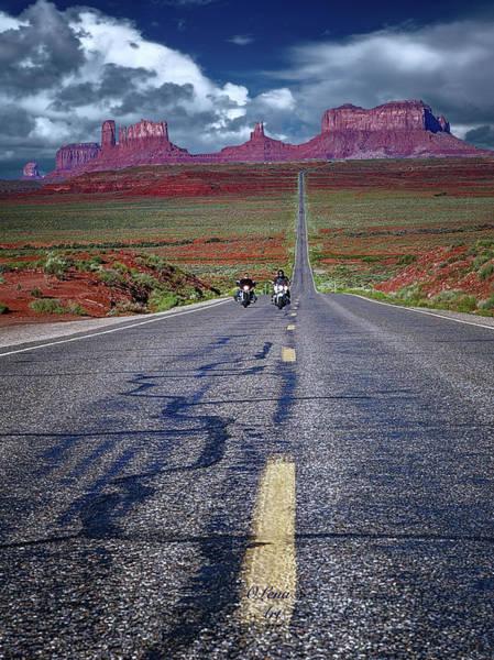 Digital Art - Monument Valley Twilight  by OLena Art Brand