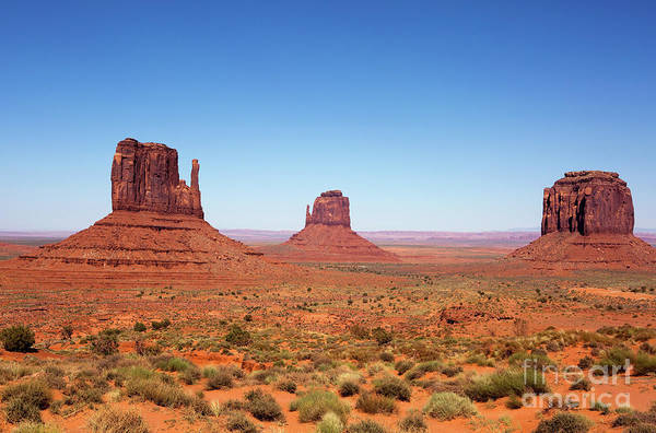 Photograph - Monument Valley Utah The Mittens by Steven Frame