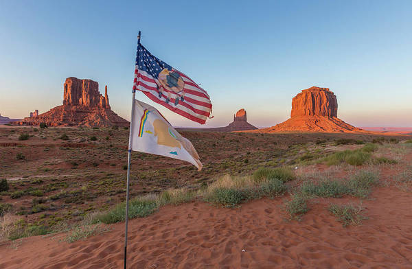 Photograph - Monument Valley With Flag  by John McGraw