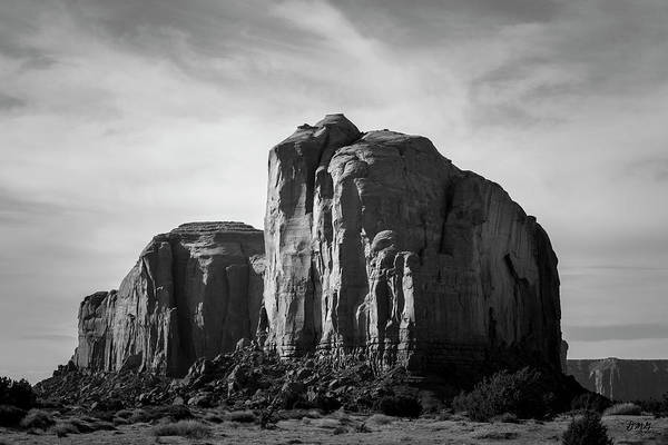 Photograph - Monument Valley Xv Bw by David Gordon