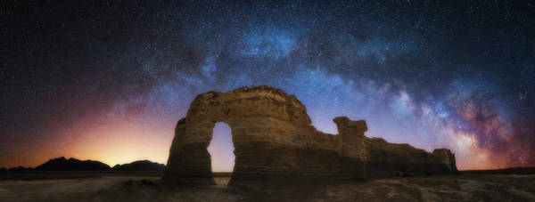 Photograph - Monumental Milky Way by Darren White