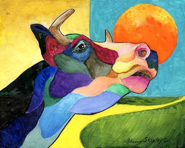 Painting - Moo Cow 2 by Sherry Shipley