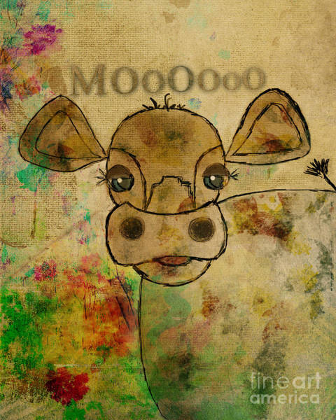 Painting - Ginkelmier Land Moo Cow by Christina VanGinkel