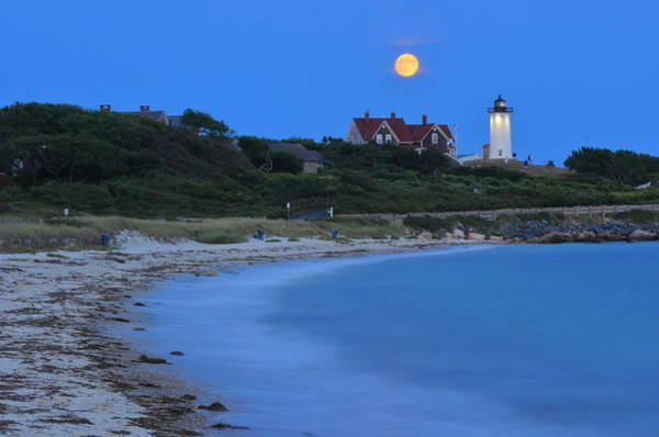 Wall Art - Photograph - Mood And Tide Nobska Lighthouse And Beach by John Burk