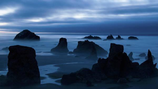 Rock Face Photograph - Moody Bandon by Patrick Campbell