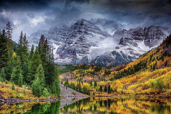14er Photograph - Moody Bells by Eric Glaser