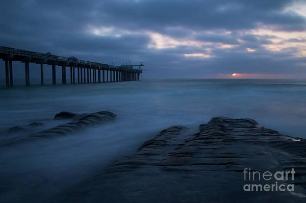 Scripps Pier Photograph - Moody Blues by Michael White