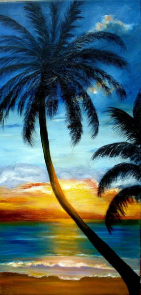 Painting - Moody Blues Sunset Sold by Susan Dehlinger