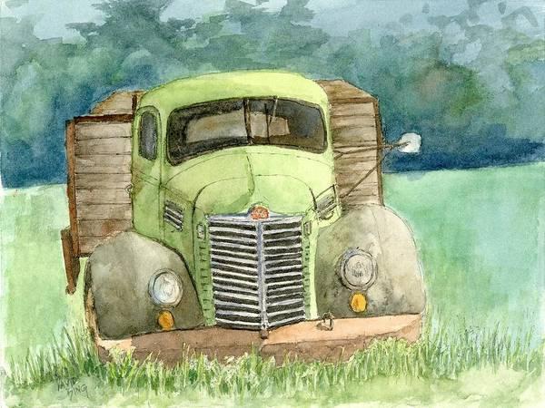 Painting - Moody Green by David King