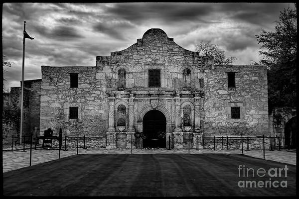 Photograph - Moody Morning At The Alamo Bw by Jemmy Archer