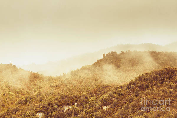 Mounted Photograph - Moody Mountain Morning by Jorgo Photography - Wall Art Gallery