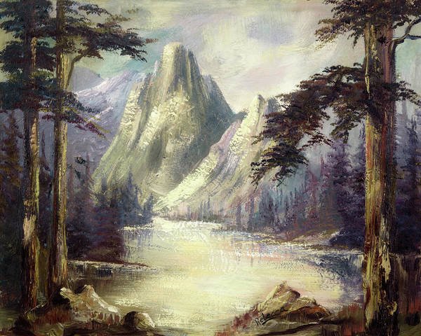 Painting - Moody Mountain by Rebecca Kimbel