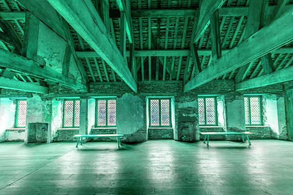 Park Bench Digital Art - moody Old house interior by Tsafreer Bernstein
