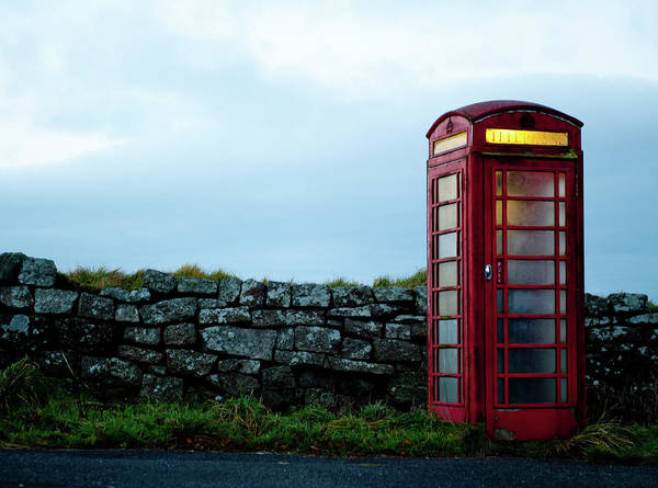 Photograph - Moody Red Telephone Box II by Helen Northcott