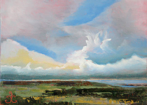 Painting - Moody Skies by Trina Teele