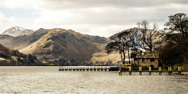 Pooley Bridge Wall Art - Photograph - Moody Ullswater Boathouse by Naylors Photography