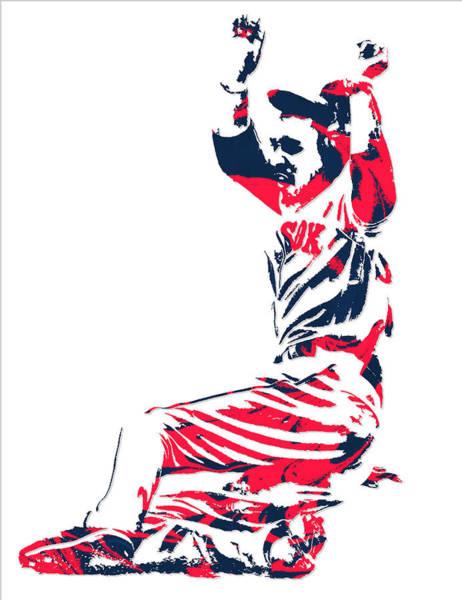 Wall Art - Mixed Media - Mookie Betts Boston Red Sox Pixel Art 1 by Joe Hamilton