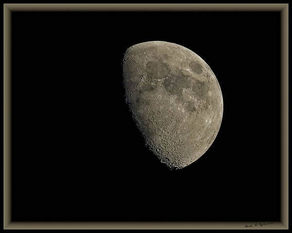 Photograph - Moon 67 Percent Fr24 by Mark Myhaver