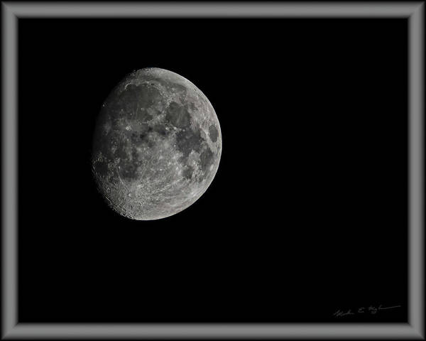 Photograph - Moon 85 Percent by Mark Myhaver