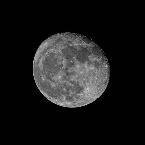 Photograph - Moon 93 Percent S49 by Mark Myhaver