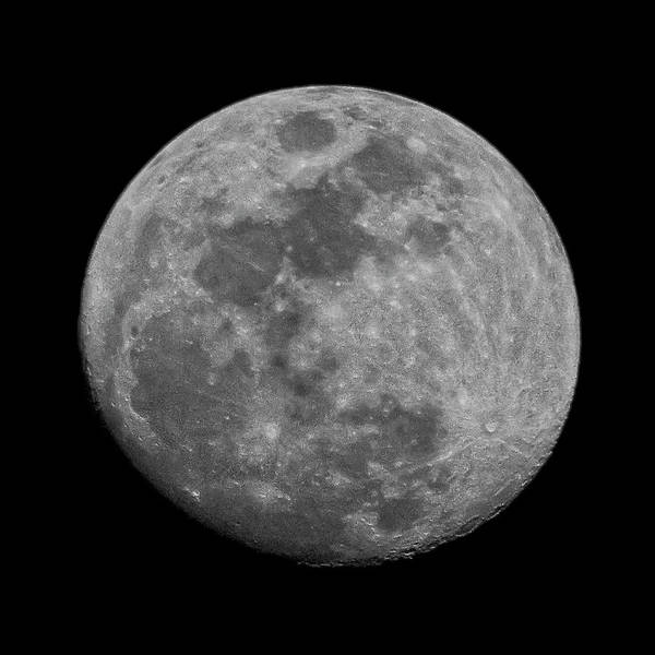 Photograph - Moon 94 Percent by Mark Myhaver