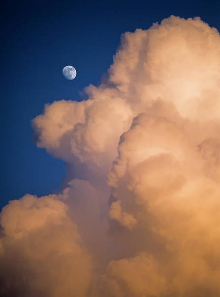 Photograph - Moon And Cloud by Robert Potts