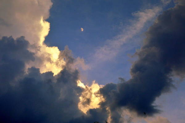 Gorecki Photograph - Moon And Clouds by Henryk Gorecki