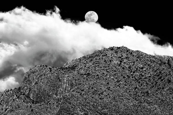 Photograph - Moon And Clouds Over Pusch Ridge H1831 by Mark Myhaver
