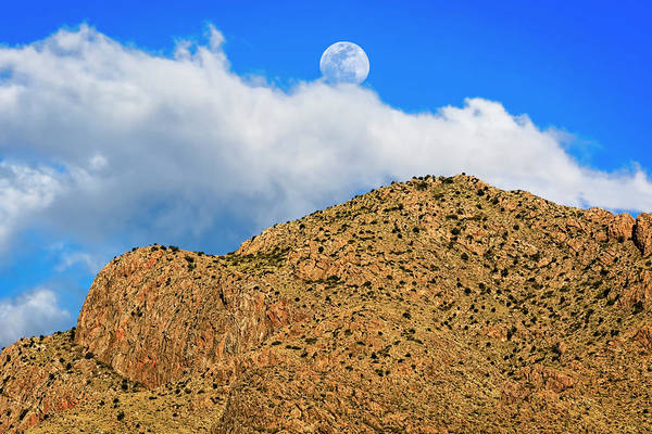 Photograph - Moon And Clouds Over Pusch Ridge H1829 by Mark Myhaver