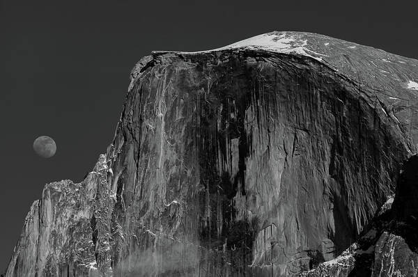 Photograph - Moon And Half Dome by TM Schultze
